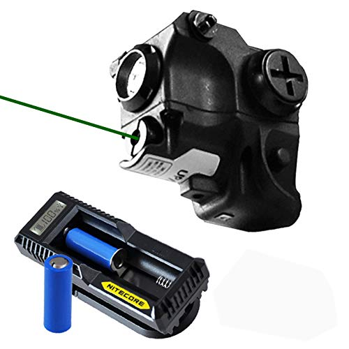 Lasertac Rechargeable Subcompact Green Laser Sight Light Combo for Springfield XD XD-S XDM S&W M&P Beretta PX-4 Taurus Millenium Walther PPQ PPS PPX PK380 Ruger SR9C Sig Sauer Glock