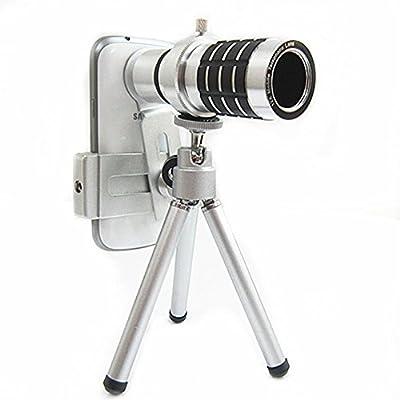 Vkenis Universal 12X Zoom Clip-on Telephoto Lens Manual Long Focus Telescope Camera Lens Kit for Phones