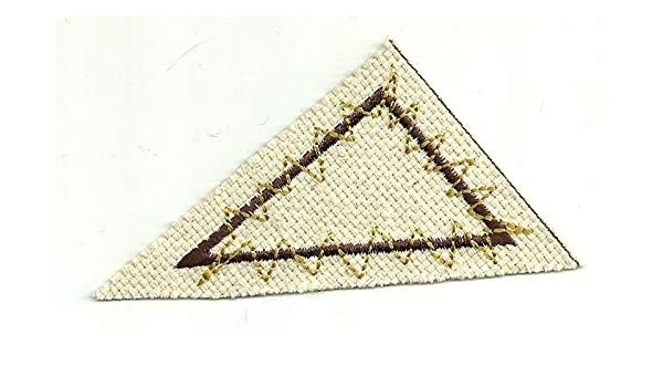Canvas Abstract Art Right Triangle Geometry Shape Embroidered Patch