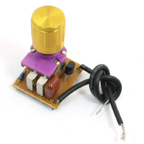 uxcell Table Lamp Full Range Dimmer Gold Tone Rotary Switch 2 Wire Connector