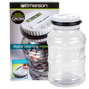 Amazon.com : EMERSON DIGITAL COIN-COUNTING MONEY JAR [Office ...