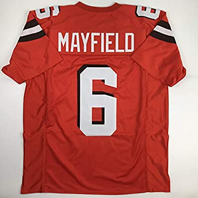 competitive price dc741 44bcb Unsigned Baker Mayfield Cleveland Orange Custom Stitched Football Jersey  Size Men's XL New No Brands/Logos