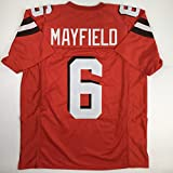 Unsigned Baker Mayfield Cleveland Orange Custom Stitched Football Jersey Size Men s XL New No Brands/Logos