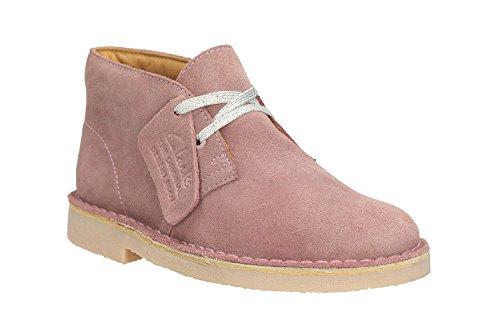 Clarks Enfants Vintage Pink Suède Desert Bottes