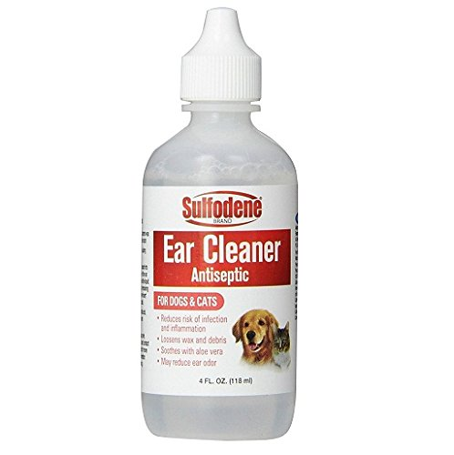 Sulfodene Ear Cleaner Antiseptic for Dogs and Cats 4 Oz. (Antiseptic Ear Powder For Dogs)