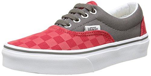 Vans Unisex-Kinder Era Low-Top Mehrfarbig (checkerboard/racing Red/pewter)