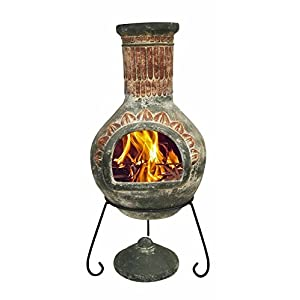 Mexican Design Outdoor Portable Clay Chiminea