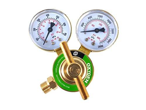 (SÜA - Oxygen Regulator Welding Gas Gauges - CGA-540 - Rear Connector - LDB series)