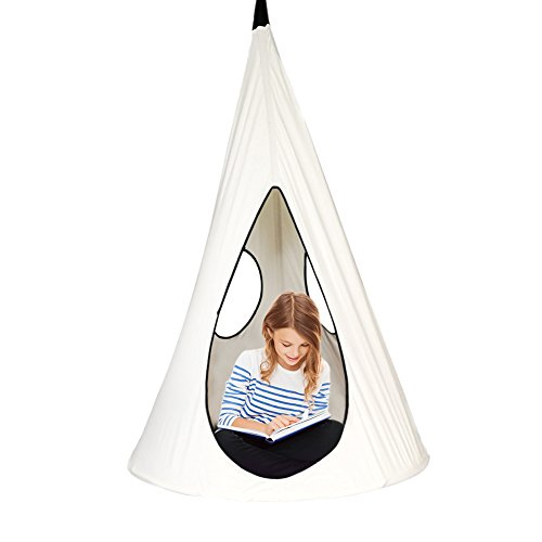 Children Nest Hammock Swing Chair Kids Pod Swing Seat Hanging Tree Tent for Indoor Outdoor-40 Inch (Large Tree Seat)