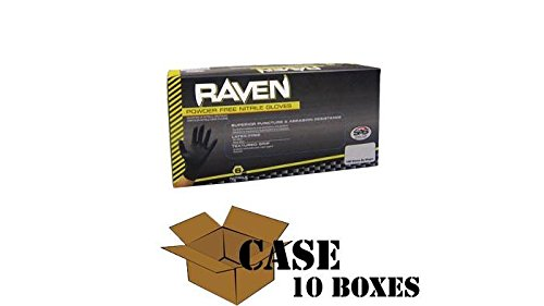 Raven - Nitrile Powder Free Gloves - Case Size Small by Disposable Glove