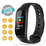 Warmhoming Fitness Tracker, M3 Fitness Watch Sport Wristband Activity Tracker with Heart Rate Monitor, Sleep Monitor, Step Counter, Calorie Counter, Pedometer for Men Women and Kids
