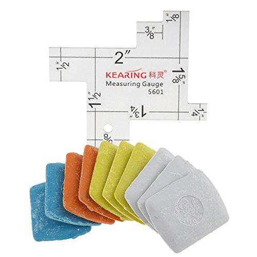 Fityle  スケールゲージ ルーラー 縫製キルティング ファブリックチョーク 絵画ツール 測定用 専門定規 多色入りの商品画像