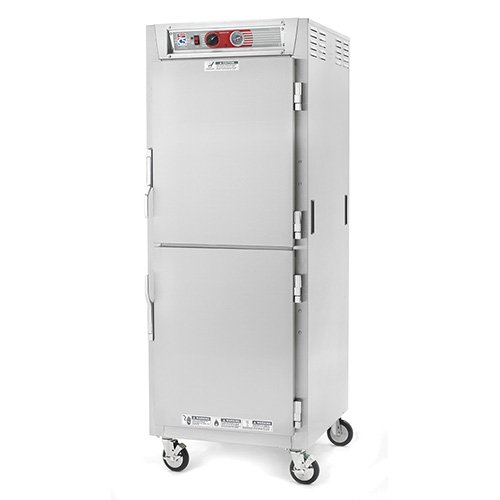 - Metro C569-NDS-U C5 6 Series Reach-in Heated Holding Cabinet, Full Height, Aluminum, Dutch Solid Doors, Universal Wire Slides