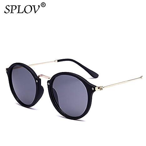 458ebaa898074 BuyWorld SPLOV 2018 New Arrival Round Sunglasses Retro Men Women Brand  Designer Sunglasses Vintage Coating Mirrored Oculos De sol UV400   Amazon.in  Home   ...