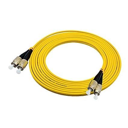 FC to FC Single mode Duplex 9//125 3.0mm Fiber Optic Patch Cable 1m
