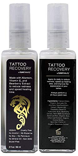 Luxe Beauty: Tattoo Recovery & Brightening Cream - Revitalize Your Tattoos - 2 fl oz - Non-Toxic Formula - Assists In Improving Appearance Of Old Tattoos - Helps Heal New Tattoos (Wrecking Balm Tattoo Removal Before And After)