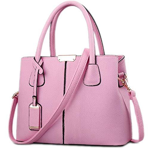 los Mano Cuero Pink 5x13x21 Bolso Bolsos de 5cm Cuadrado Las Black 29 de PU de de la Mujeres de nInWHq5