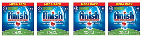 Finish All In 1 Powerball, Fresh 85 Tabs, Dishwasher Detergent Tablets (Packaging May Vary) (4 X 85 TABLETS) by Finish