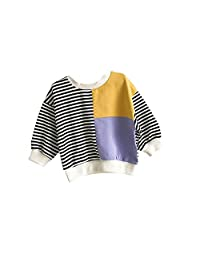 Mornyray Unisex Boys Girls Cotton Round Neck Pullover Tops Outfit