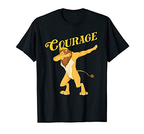 Dabbing Cowardly Lion Shirt-The Wizard Of Oz TShirt -Courage]()