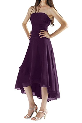 Bride Grape Bridesmaid Gown Dress 2015 Pleated Chiffon Angel Formal New 1CdOwfxq