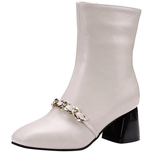 Classic Women's Women's Boot Beige AIYOUMEI Women's AIYOUMEI Beige Classic AIYOUMEI Beige AIYOUMEI Boot Women's Classic Boot 7Yrp7