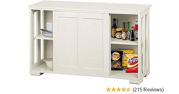 Amazon Com Yaheetech Antique White Kitchen Storage Sideboard