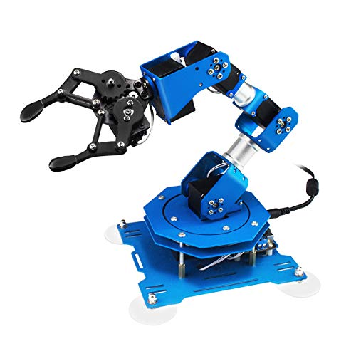 6DOF robot xArm Full Metal Programmable Robotic Arm with Feedback of Servo Parameter, Wireless/Wired Mouse Control, Mobile Phone Programming with detailed tutorial