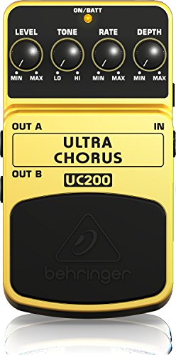 Behringer UC200 Ultimate Stereo Chorus Instrument Effects Pedal