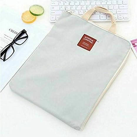 escritorio carpetas de almacenamiento para carpetas escolares portadocumentos port/átil color azul oscuro bolso de mano 1 funda para documentos A4 de tela