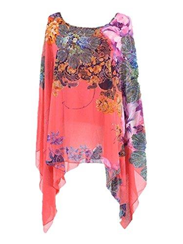 floaty sleeve chiffon floral dress - 9