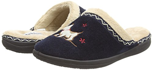 Padders Lined Navy Scotty Lined Mule Slippers Padders Scotty Mule Womens Womens Navy Slippers AxAzwqCEr
