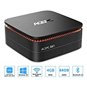 #LightningDeal ACEPC AK1 Mini PC, Windows 10 (64-bit) Intel Celeron Apollo Lake J3455 Processor(up to 2.3GHz) Desktop Computer,4GB DDR3/64GB eMMC,2.4G+5G Dual WiFi,Gigabit Ethernet,BT 4.2,4K
