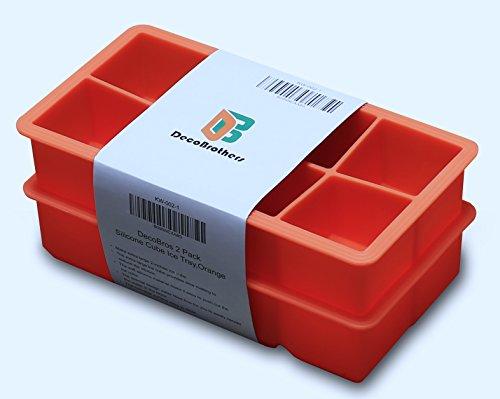 DecoBros Pack Silicone 2 Inch Orange