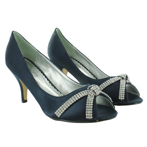 Footwear Sensation - punta abierta de sintético mujer azul - azul marino