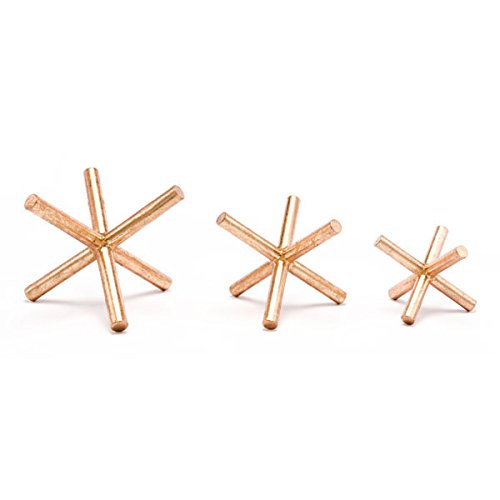 Set of 3 Zuo Asterix Copper