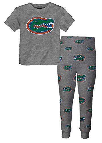 NCAA by Outerstuff NCAA Florida Gators Toddler Short Sleeve Tee & Pant Sleep Set, Heather Grey, 4T ()