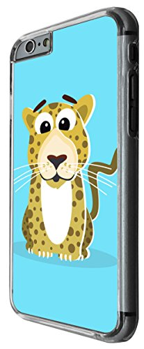 1161 - Cute Fun Tiger Animal Drawing Blue Design For iphone 4 4S Fashion Trend CASE Back COVER Plastic&Thin Metal -Clear