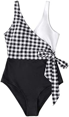 CUPSHE Women's One Piece Swimsuit Knotted Color Block Bathing Suit