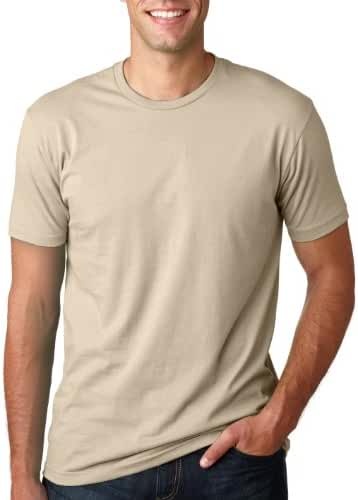 Next Level Mens Premium Fitted Short-Sleeve Crew T-Shirt - Medium - Cream