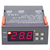 Akozon MH1210F Digital Temperature Control Controller Thermostat -58~194℉ Fahrenheit Sensor AC110V