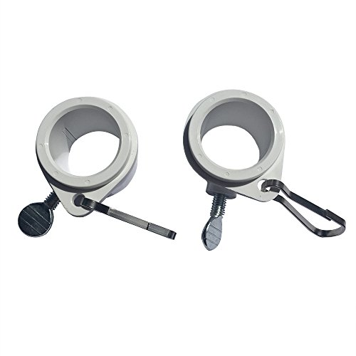 Flags Poles And More 1 Inch White Rotating Flag Mounting Rings Fits On A Standard 1