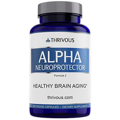 Alpha Neuroprotector - Enhance Brain & Nerve Function for Better Aging - Premium Natural Nootropic Supplement: Alpha GPC, Acetyl L Carnitine, R Alpha Lipoic Acid, Ginkgo Biloba, Phosphatidylserine