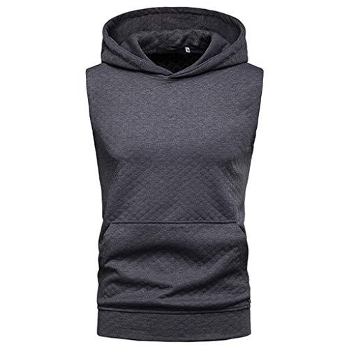 KINGOLDON Outdoor t Shirt Pocket Vest Top Men Fashion Hoodie Sleeveless Large Size Casual Blouse Tank Fitness t -