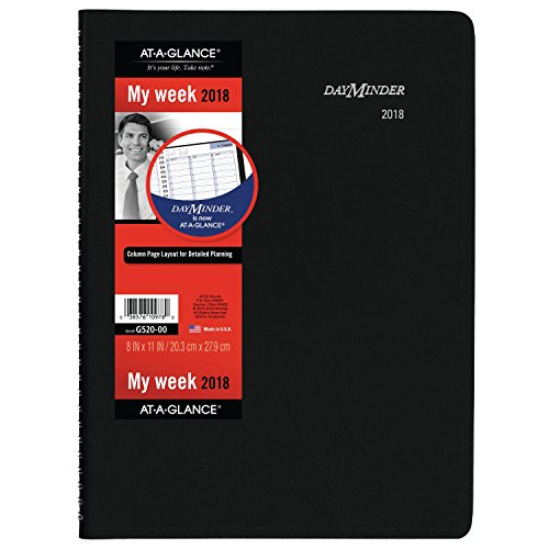 At-A-Glance G52000-18  DayMinder Weekly Appointment Book / Planner, January 2018 - December 2018, 8