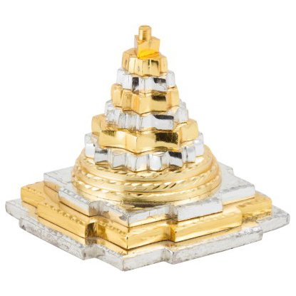 er and Golden Finish Pyramid Feng Shui | Good Luck | Prosperity Symbol | Wealth Symbol | Dark Energy | Paper Weight ()