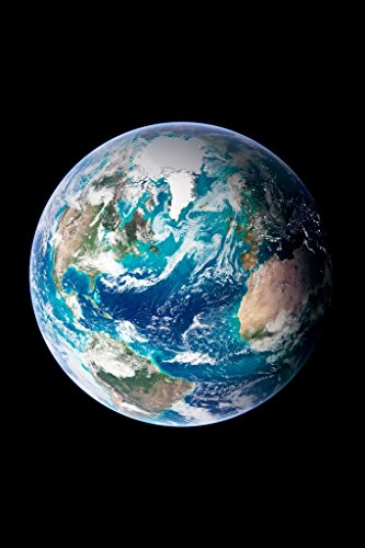 Satellite View of Earth from Outer Space Photo Art Print Mural Giant Poster 36x54 inch ()