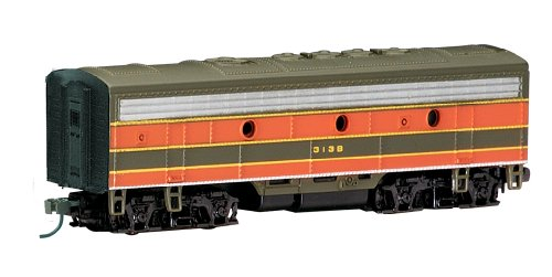 Bachmann Industries EMD F7-B Diesel Locomotive DCC Equipped Great Northern Train Car, Green/Orange, N Scale