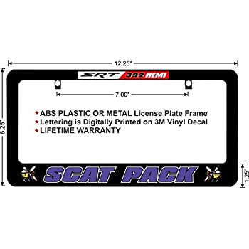 SCAT Pack Fear The Bee 392 Plum Crazy Custom License Plate Frame