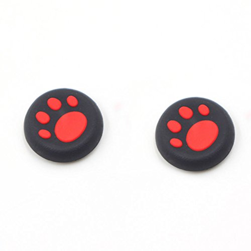 Silicone Thumb Grip Cap Cover Thumbstick Joystick for Sony PS3 PS4 PS2 Xbox One Xbox 360 XBox One X S PS4 Pro Slim Cat Print (2 PCS ()